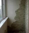 Гипсовая плитка на балконе